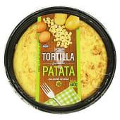 Tortilla patata fresca con aceite oliva (incluye plato)