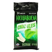 Chicle hierbabuena láminas sin azúcar