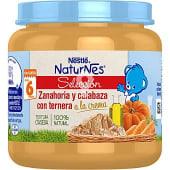 Tarrito de zanahoria y calabaza con ternera a la crema desde 6 meses sin gluten