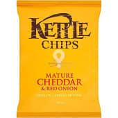 Patatas fritas sabor queso cheddar y cebolla roja