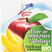 Bio Maxitos pure de manzana y platano ecologico y sin gluten 2 unidades tarrina 200 g