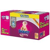 Pañales de 9 a 15 kg talla 4+ Extra pack 2x52 unidades caja 104 unidades
