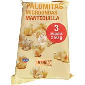 Palomitas con mantequilla para microondas