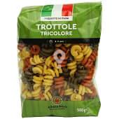 Trottole tricolore pasta italiana (helices)