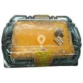 Tarta nata tostada 8 raciones (cuadrada) pasteleria congelada, deleites