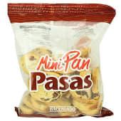 Pan tostado blanco biscote mini con pasas (redondo)