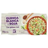 Quinoa cocida blanca y roja