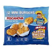 Mini hamburguesas de merluza empanada