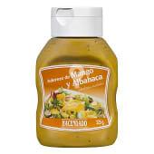 Aderezo de mango y albahaca