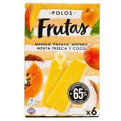 Helado de palo de fruta (papaya, mango, níspero, coco y menta fresca)