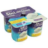 Yogur natural azucarado sin lactosa