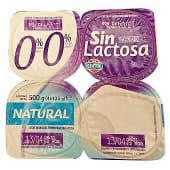 Yogur desnatado natural edulcorado sin lactosa