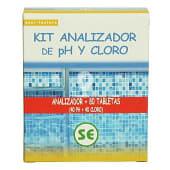 Kit piscina analizador cloro/ph + recambio 80 tabletas