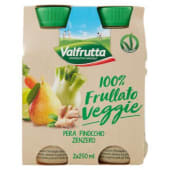 Valfrutta, 100% frullato Veggie pera finocchio zenzero conf. 2x250 ml