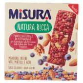 Misura, Natura Ricca mandorle noci mirtilli e acai barretta conf. 3x22 g