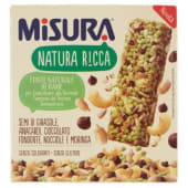 Misura, Natura Ricca semi di girasole anacardi cioccolato nocciole e moringa barretta conf. 3x28 g