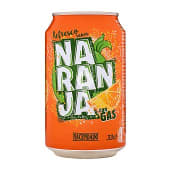 Refresco de naranja con gas