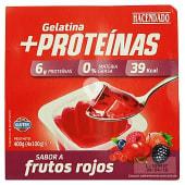 Gelatina + proteina 0% materia grasa sabor frutos rojos