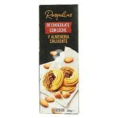 Rosquillas de chocolate con leche y almendra crujiente
