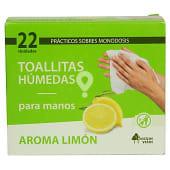 Toallitas húmedas de manos con aroma a limón