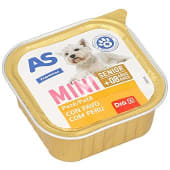 Alimento para perros senior con carne