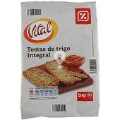 Tostas de trigo integral paquete 225 gr