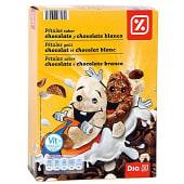 Cereales pétalos de chocolate y chocolate blanco caja 375 gr