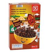Cereales en bolas de maiz con chocolate paquete 500 gr