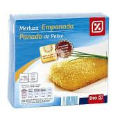 Filetes de merluza empanados caja 400 gr