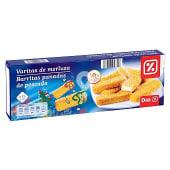 Varitas de merluza vitaminadas caja 450 gr