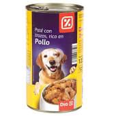 Alimento para perros pate con trozos de pollo