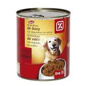 Alimento para perros trozos buey y verdura