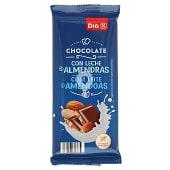 Chocolate con leche y almendras partidas