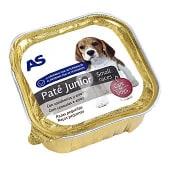 Alimento para perros junior con carne