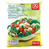 Brócoli, coliflor y zanahoria
