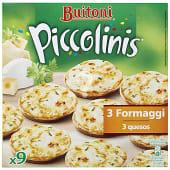 Mini pizzas Piccolinis 3 formaggi