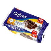 Gofre recubierto de chocolate