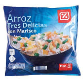 Arroz 3 delicias con marisco
