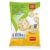 Tortitas mini de maíz y arroz sabor queso