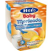 Merienda de melocotón con yogur