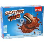 Galleta de cacao rellena de crema de leche bañada en chocolate paquete