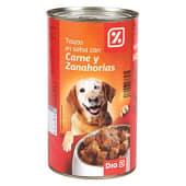 Alimento para perros trozos carne-verdura lata