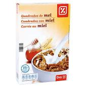 Cereales cuadrados con miel