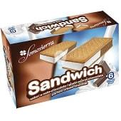 Helado sandwich nata y chocolate
