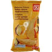 Patatas fritas queso mediterráneo