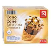 Helado cono nata y chocolate caja 4 uds 252 gr