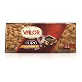 Chocolate puro con almendras