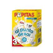 Palomitas para microondas al punto de sal