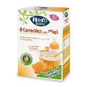 Hero Papilla 8 Cereales con Miel