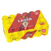 Cerveza rubia nacional pack 24 latas 33 cl